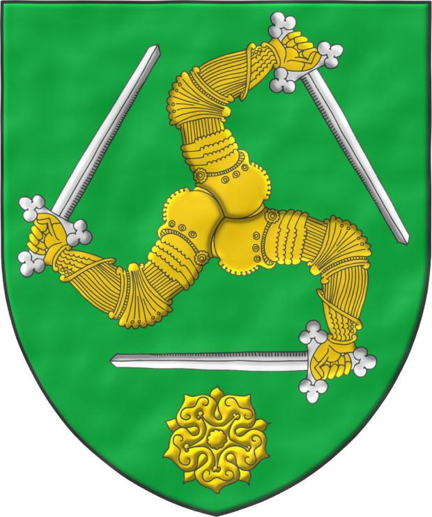 Escudo: Godofredo V conde de Anjou. Leonor de Aquitania. Enrique II ...