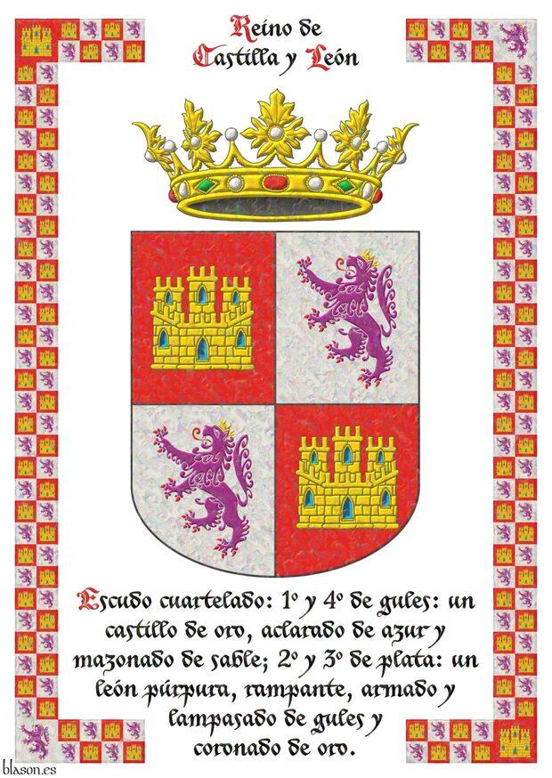 Marco: Castilla y León, enmarcado. Castilla y León sobre pergaminio ...