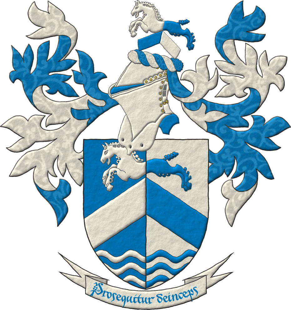 Canting arms with its crest