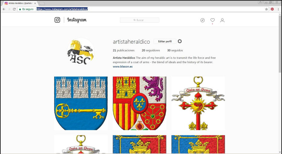 Instagram group, Bureau of Heraldry South Africa