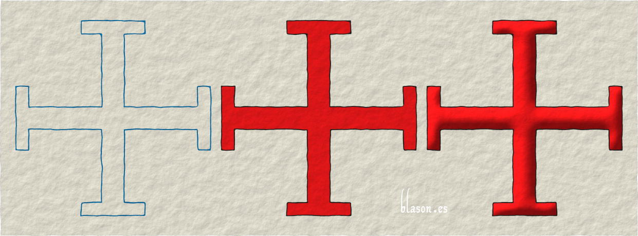 Cross potent, how to paint in Gules